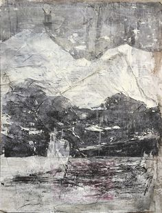 Charcoal, acrylic, collage_2018 Collage, Landscape, Abstract, Artwork, Charcoal, Paintings, Summary, Collages, Scenery