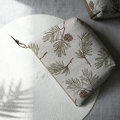 This is a large pouch with a deep bottom, which makes it perfect for travelling or as a project bag for your needlework projects. Larch Tree, Printed Bags, Fern, Tree Branches, Textile Design, Pouches, Needlework, Travelling, Wallet