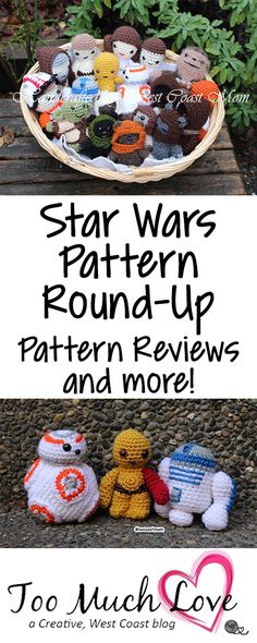Your guide to various Star Wars Crochet Amigurumi Patterns.