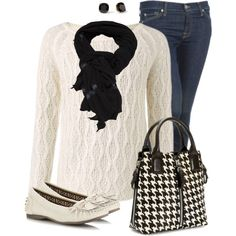 The Alabama fan in me needs a crimson scarf to go with this houndstooth handbag! Love it!!