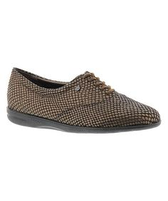 Bronze Motion Leather Oxford