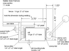 diy table saw fence plans - Cerca con Google
