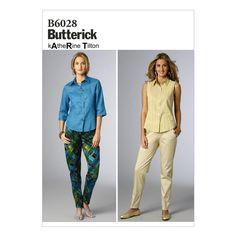 Butterick Misses' Pants Pattern B6028 Size B50