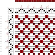 draft image: 6 schäftig mit 6 Karten 26, Lehr-Methode der Weberei, Ferdinand A. Langewald, 3S, 3T