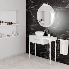 50 Fotos de móveis para casa de banho pequena ~ Decoração e Ideias Bathroom Lighting, Vanity, Mirror, Furniture, Home Decor, Costa, Ranch, Small Bathrooms, Restroom Decoration