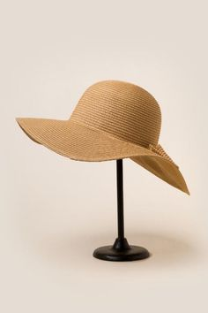 Laurette Textured Bow Sun Hat $26.00