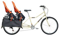 How to Bike With Your Kids... for two or more kids, get an Xtracycle, the breed of elongated cargo bike that lets you mount multiple seats on a long, flat, stable platform in the rear. Plus you can upgrade—infant seats when they're small, footrests and handlebars when they get older. You can buy an entire bike for a little over $1,000.