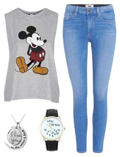 """Summer here we come"" by myfriendshop ❤ liked on Polyvore featuring Paige Denim and Topshop"