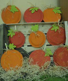 Dýně - naše sklizeň (tvoření z papírových talířků) Halloween, Autumn, Halloween Labels, Spooky Halloween