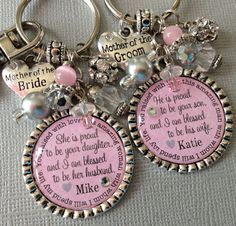 Mother of the BRIDE gift / MOTHER of the GROOM Set by buttonit, $54.00