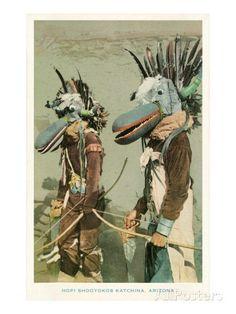 Hopi Shooyokos Katchinas, Arizona ---- ネイティブアメリカン・ホピ族の神話世界 http://sedona10silvermoon.web.fc2.com/hopi.html