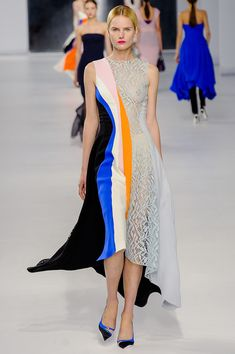 Expert color blocking and seaming. Christian Dior by Raf Simons Resort 2014