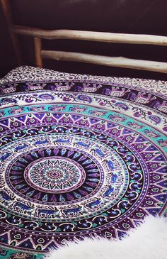 By The Moon - Virgo Mandala Throw - Queen | Back In Stock | Peppermayo