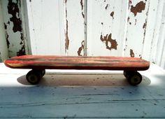 Vintage skate board in super duper red.