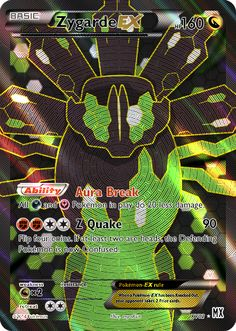 Pokemon zygarde card
