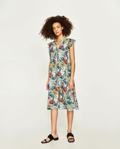 ZARA - WOMAN - LONG FLORAL PRINT TUNIC