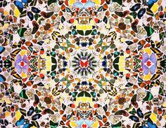 Image result for damien hirst kaleidoscope paintings
