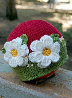 knitted baby: baby hat - crafts ideas - crafts for May 2011 - - Picasa Web Albums Crochet Beanie Hat, Crochet Cap, Cute Crochet, Baby Hats Knitting, Crochet Baby Hats, Knitted Hats, Sombrero A Crochet, Knitting Patterns, Crochet Patterns