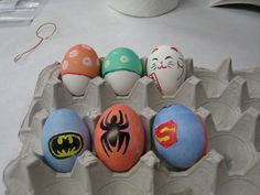 Super Hero logo eggs