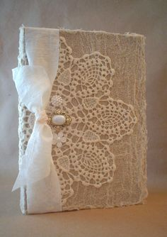 Altered Vintage Lace Doily Shabby Buttons by BrownPaperNest