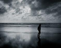 Raglan Beach on one of its moodier days