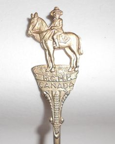 Vintage spoon Canada Royal Canadian Mounted by TearDropCurio
