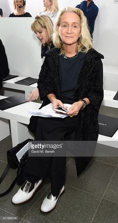 Lucinda Chambers at The Serpentine Gallery on February 22, 2016 in London, England.