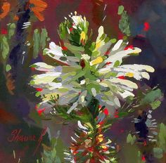 South African Art, Impressionism, White Flowers, Still Life, Photo Art, Art Projects, Painting Flowers, Graphic Design, Florals