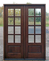 Mahogany French Doors Exterior 8 Lite French Doors Exterior French Doors With Sidelights Exterior Double Front Doors