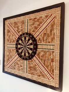 Dartboard Backer Wall Protector XL Made with Recycled Wine Corks Game Room Déco. Dartboard Backer Wall Protector XL Made with Recycled Wine Corks Game Room Décor. Wine Cork Art, Wine Cork Crafts, Wine Cork Projects, Wooden Crafts, Recycled Crafts, Dartboard Wall Protector, Cork Dartboard, Game Room Basement, Garage Game Rooms