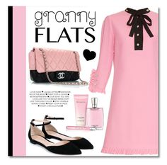 """""""Granny Flats"""" by debraelizabeth ❤ liked on Polyvore featuring Gucci, Gianvito Rossi, women's clothing, women's fashion, women, female, woman, misses, juniors and grannyflats"""