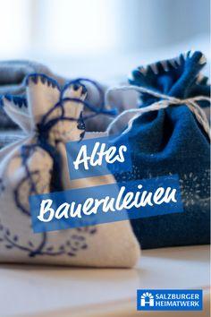 Salzburger Heimatwerk - altes Bauernleinen hat besonders viel Charme und ist scher zu finden. Oft ist es über 100 Jahre alt! Bei uns kannst Du wunderschöne Kissenbezüge, Tischläufer und einiges mehr ergattern!