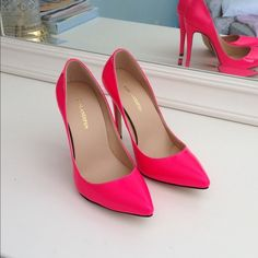 """Selling this """"Spring Fever! Get your hot pink patent pumps!"""" in my Poshmark closet! My username is: kasey813. #shopmycloset #poshmark #fashion #shopping #style #forsale #Shoes"""
