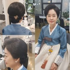 Korean Traditional, Traditional Outfits, Up Styles, Hair Styles, Mom Hairstyles, Style Me, Hair Beauty, Sari, Blog