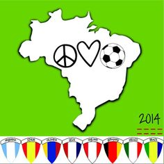 The world is ready! Who is your favorite team?! Shop in stores and online now! #peaceloveworld #worldcup #brasil2014 #mundial #2014