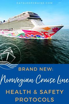 Norwegian Cruise Line's New Health and Safety Protocols have been announced, giving some insight into what cruising will really look like when it resumes. #cruise #NCL #NorwegianCruise #eatsleepcruise