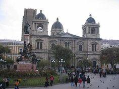 A plaza in La Paz, Bolivia