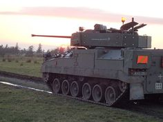 British Army's Warrior IFV fitted with CT 40 weapon system