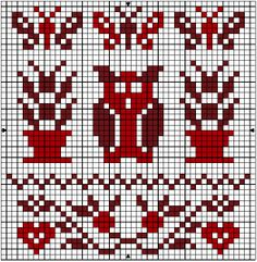Pin only, links to dead blog. Owl! Stofnest-12 Cross Stitch Numbers, Cross Stitch Owl, Cross Stitch Samplers, Cross Stitch Charts, Cross Stitch Designs, Cross Stitch Embroidery, Cross Stitch Patterns, Mittens Pattern, Needlepoint Patterns