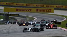 Lewis Hamilton (GBR) Mercedes AMG F1 W06 leads at the start of the race at Formula One World Championship, Rd2, Malaysian Grand Prix, Race, Sepang, Malaysia, Sunday 29 March 2015. © Sutton Motorsport Images