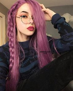 Cute Girls Hairstyles, Hairstyles Haircuts, Rose Gold Hair, Pink Hair, Synthetic Lace Front Wigs, Synthetic Hair, Wig Styles, Long Hair Styles, Vibrant Hair Colors