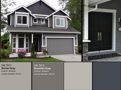 Exterior house color schemes gray color house exterior color scheme for house exterior paint color scheme Exterior Gray Paint, Exterior Paint Colors For House, Siding Colors, Paint Colors For Home, Paint Colours, Grey Paint, Outside House Paint Colors, Exterior Paint Schemes, Neutral Paint