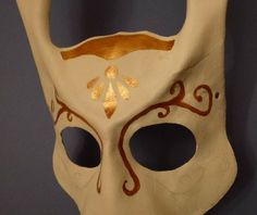 Oct 25th: Bioshock Splicer Bunny mask. Started adding the gold details late at night (hence the bad lighting… hard enough trying to fit in making something every day without worrying about unearthing the proper lighting equipment from the cupboard). By QueenHare for the Design Every Day Project