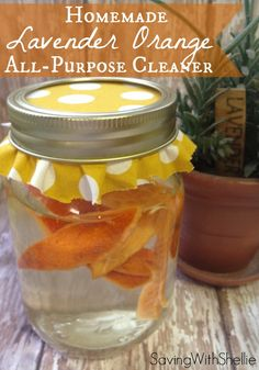 DIY All-Purpose Cleaner. All Natural. No Chemicals. The Orange and Lavender make everything smell so fresh and clean!