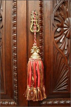 inspirationlane:  (via Red French Fleur De Lis Tassel for Antique Furniture : Interior Fittings : The Meadows Antiques and Interiors)