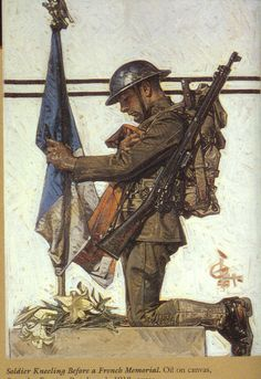 J.C. Leyendecker, original oil painting, illustration art for WWI Saturday Evening Post cover.