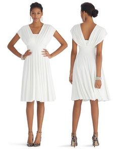 Would make a pretty backyard wedding dress. @WHBM