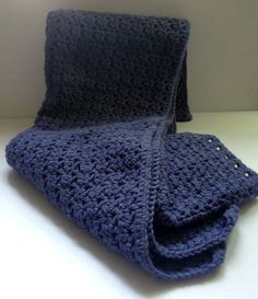 Crochet Afghan 38 x 42 slate blue Donated by: Alberta Everett Silent Auction, Slate, Crochet, Accessories, Chalkboard, Knit Crochet, Crocheting, Chrochet, Hooks