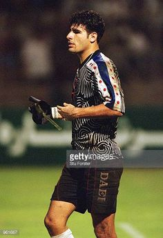 Iran Goalkeeper Ebrahim Mirzapour in action during the FIFA 2002 World Cup Qualifier between Bahrain and Iran played at the National Stadium in...