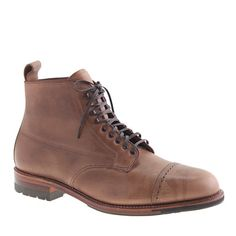 Alden® for J.Crew natural cap toe boots - j.crew in good company - Men's Men_Shop_By_Category - J.Crew